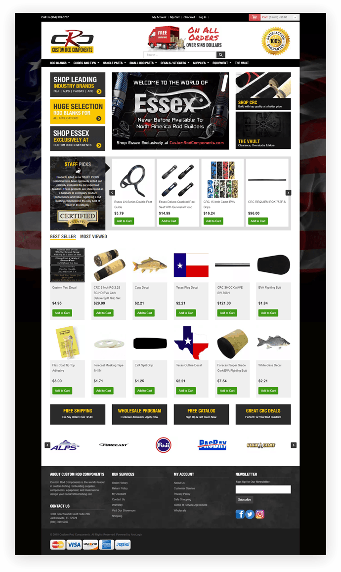 Custom Rod Components Website Design