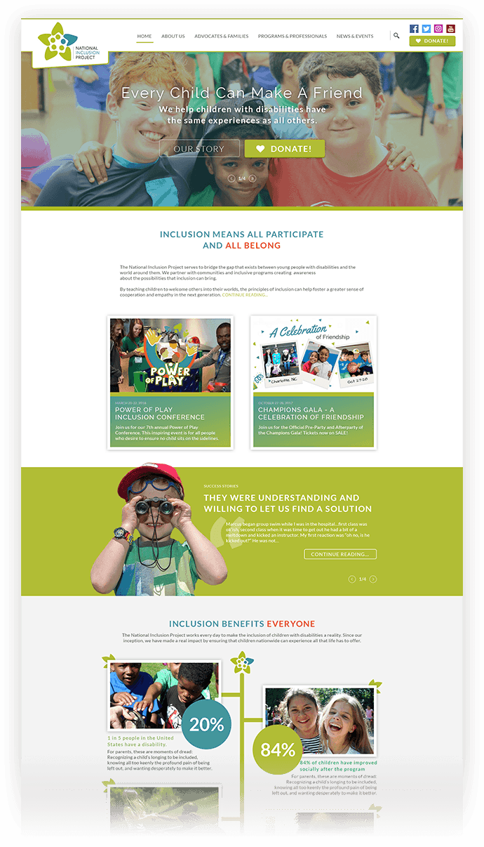 National Inclusion Project Website Design