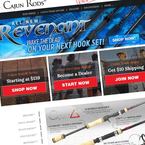 Cajun Custom Rods New Website by AnoLogix