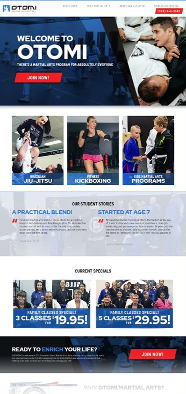Otomi Martial Arts - AnoLogix Featured Website - 2