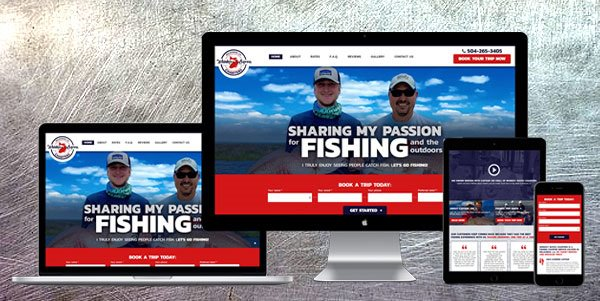 Whiskey Bayou Charters - AnoLogix Featured Website - 1