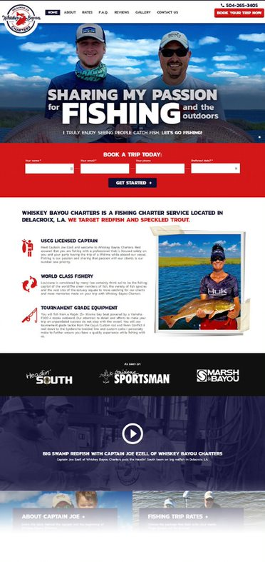 Whiskey Bayou Charters - AnoLogix Featured Website - 2