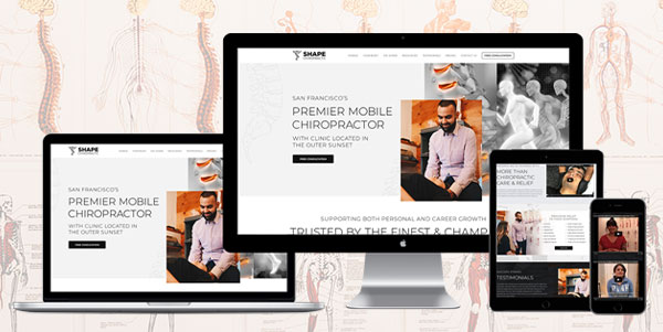 Shape Chiropractic - AnoLogix Featured Websites - 1